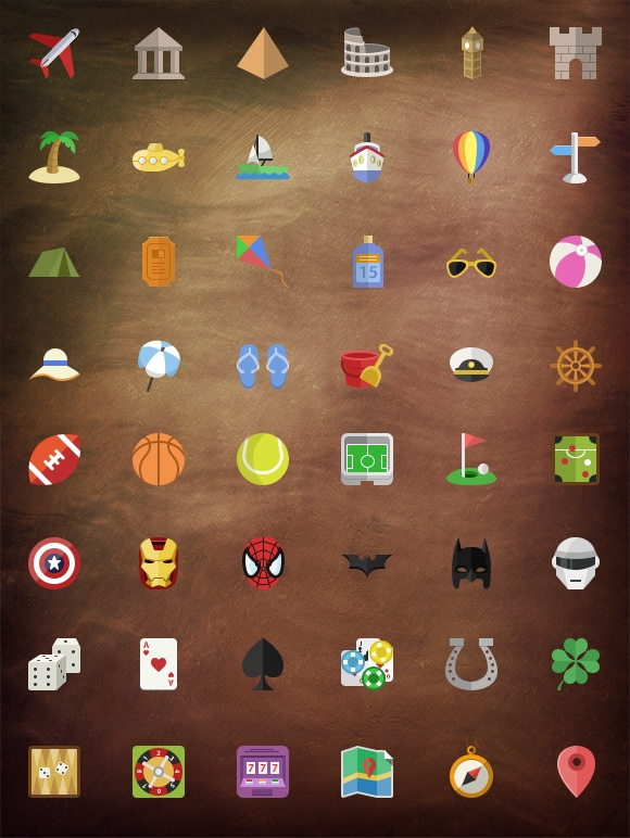 I just released Epic Flat icon set(200 and counting) on Creative Market.