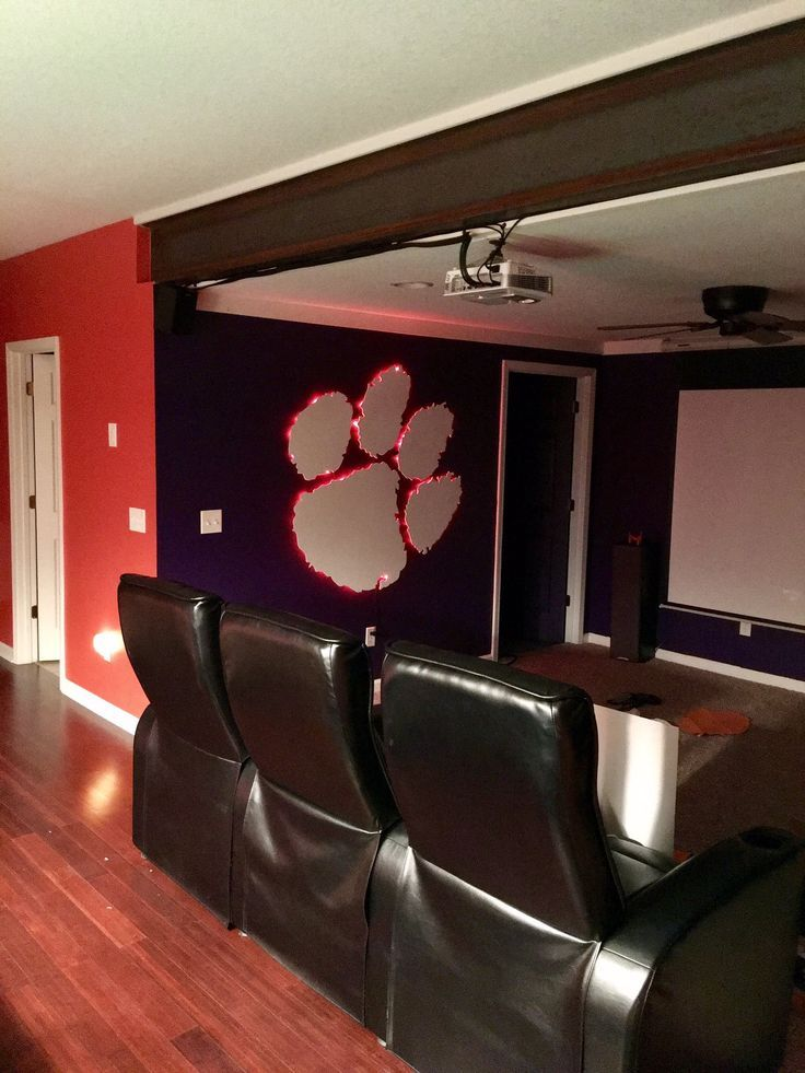 Clemson Man Cave Sports Decor Man Cave And Boys Room Decorating In