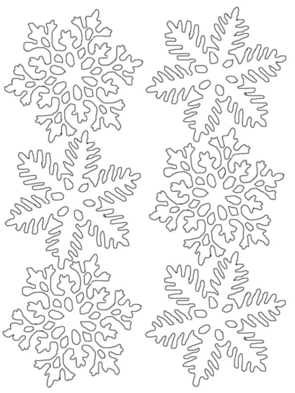 I Have Download Six Large And Nice Snowflake Coloring Page