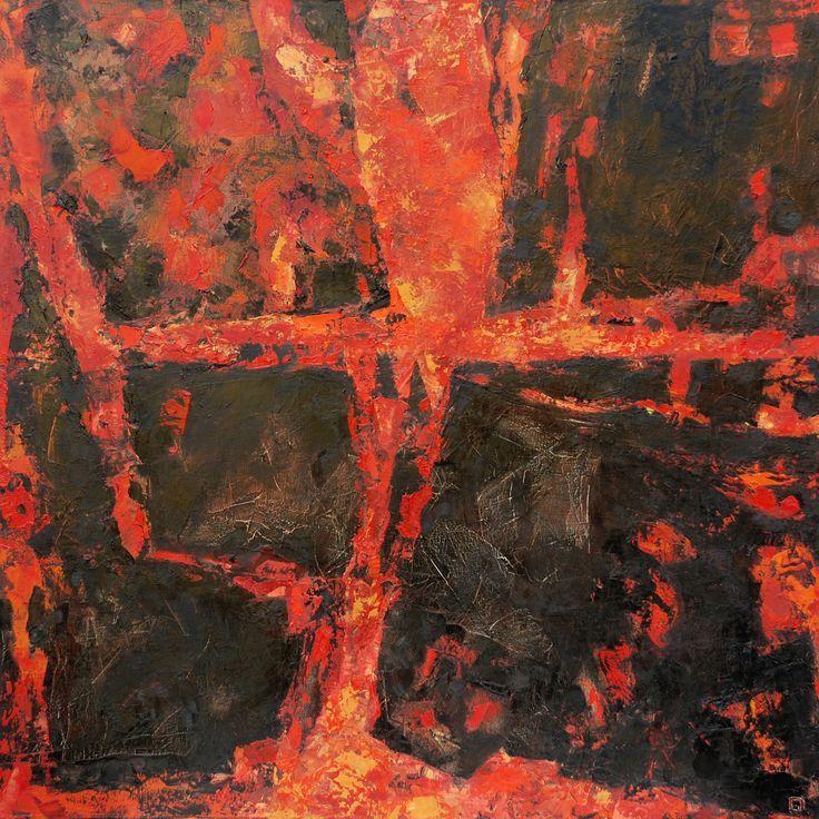 Lava 2 de 2 Mixed media on canvas 80 x 80 cm 2007