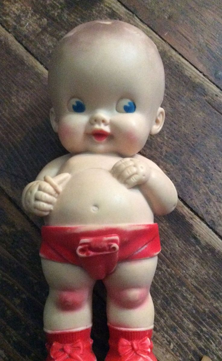 Vintage Antique Ruth E Newton Rubber Squeak Doll Sun Rubber Company Baby Red | eBay