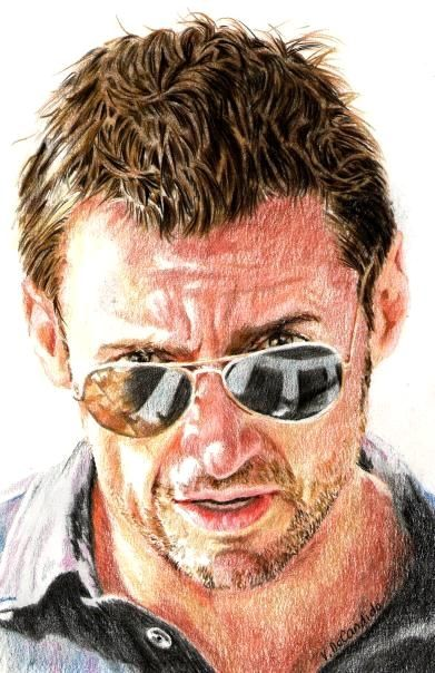 Hugh Jackman by vividec {from Italy} ~ colored pencils