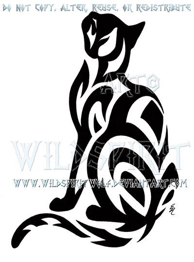 Learn more about ** Tribal Brief-Haired Cat Design by WildSpiritWolf on deviantART
