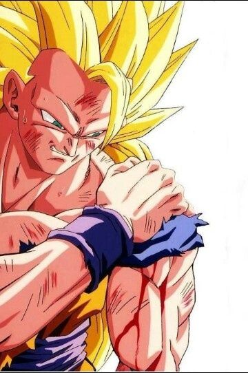 Goku. I don't know why but I always had a thing for this picture.