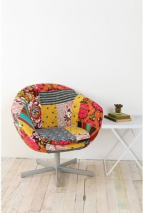 Wow.Decor, Urban Outfitters, Funky Chairs, Desks Chairs, Crafts Room, Living Room, Patchwork Chairs, Offices Chairs, Furniture Middlestsbedroomidea