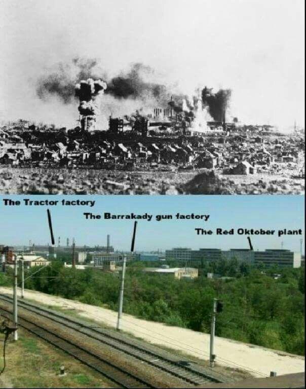 Then & Now Factory district Stalingrad.