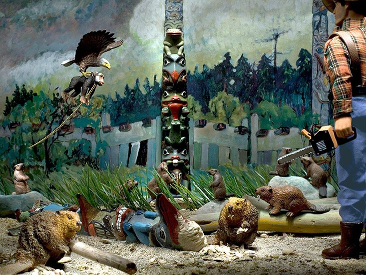 Diana Thorneycroft, Group of Seven Awkward Moments: Beavers and Woo at Tanoo, photograph, 2008