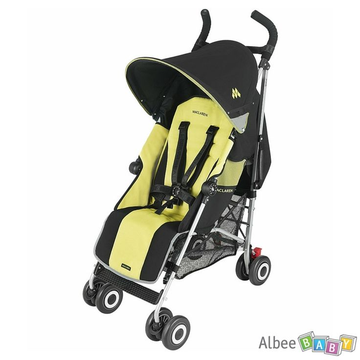SAVE 22% -  Maclaren Quest Sport Stroller - Black / Citrus Lime - WAS $269.99, NOW  $209.99.  The award-winning Maclaren Quest is popular for its style, comfort, and security. The 5-point harness provides safety, and the cozy padded seat offers a 4-position seat with an extendable leg rest for extra comfort. Light, simple to fold, and sturdy enough to handle any busy family's needs, the 6.4kg/14.1lb stroller steers and stores easily. www.albeebaby.com