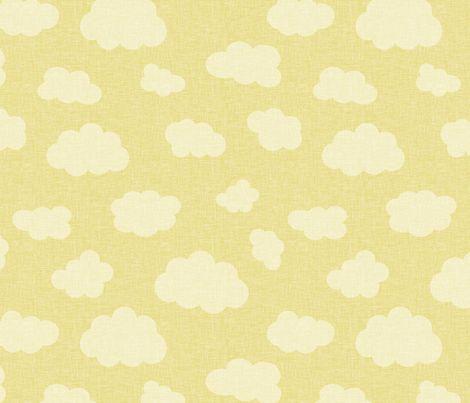 clouds_yellow fabric by glorydaze on Spoonflower - custom fabric