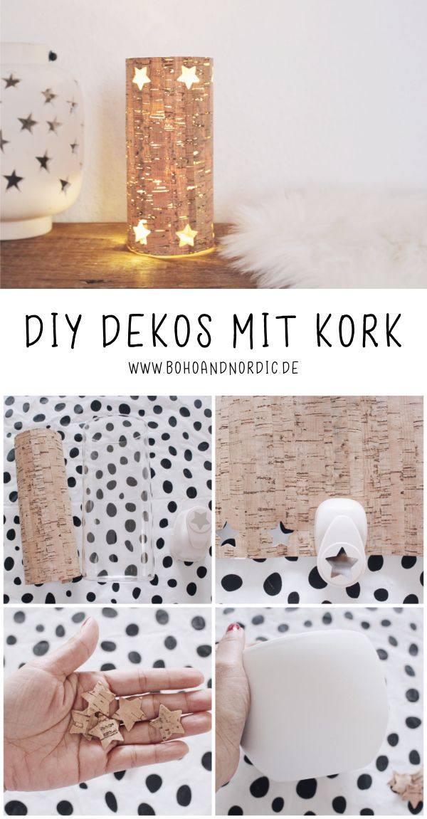 DIY decoration with cork – Simple crafting idea to imitate