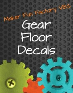 How to Make Gear Floor Decals - Maker Fun Factory VBS - BorrowedBlessings.net