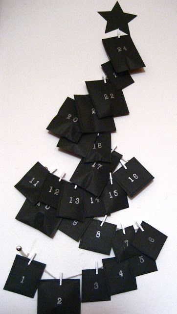 Black Advent Calendars (DIY)