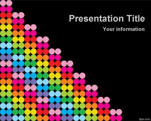 Free Color Dots PowerPoint template is a free colored PowerPoint template background with small color dots and black background color