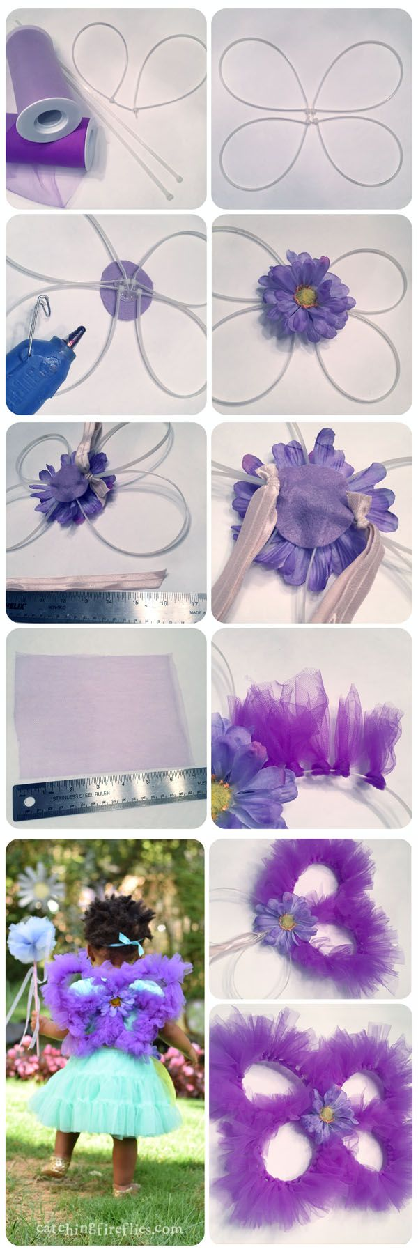 diy fairy wings with tulle -- adorable!!