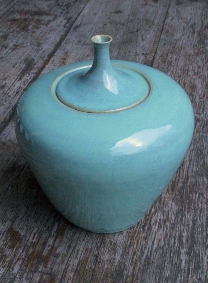 Urn turquoise 30 cm Stoneware