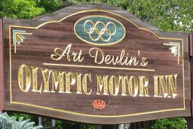 Art Devlin's Olympic Motor Inn Art Devlin's Olympic Motor Inn in Lake Placid, New York is a 50 room, pet friendly, motel overlooking the Adirondack Mountains. The motel is built on two and a half acres that allows for spacious grounds and many gardens. We are centrally located to Lake Placid's Olympic sites, hiking, shopping, …