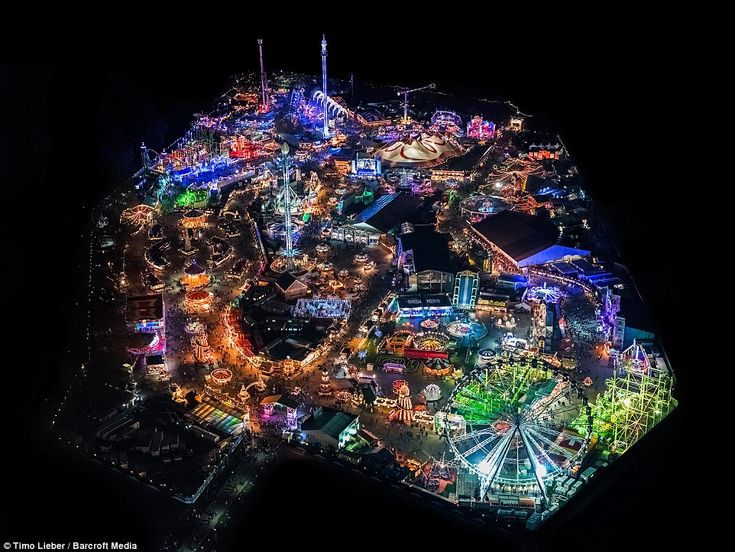 Lighting up a pitch black Hyde Park in London is the annual Winter Wonderland fair that opens to the public for Christmas each year