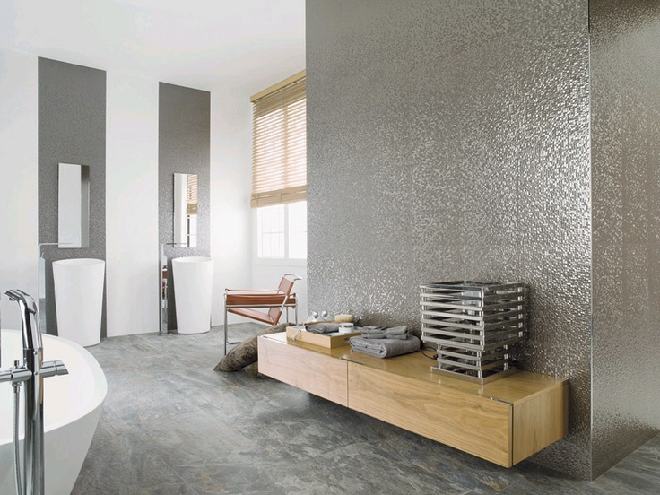 If Youu0027re Looking For Something Different In Your Bathroom Why Not Try A  Metallic Effect Wall Tile?