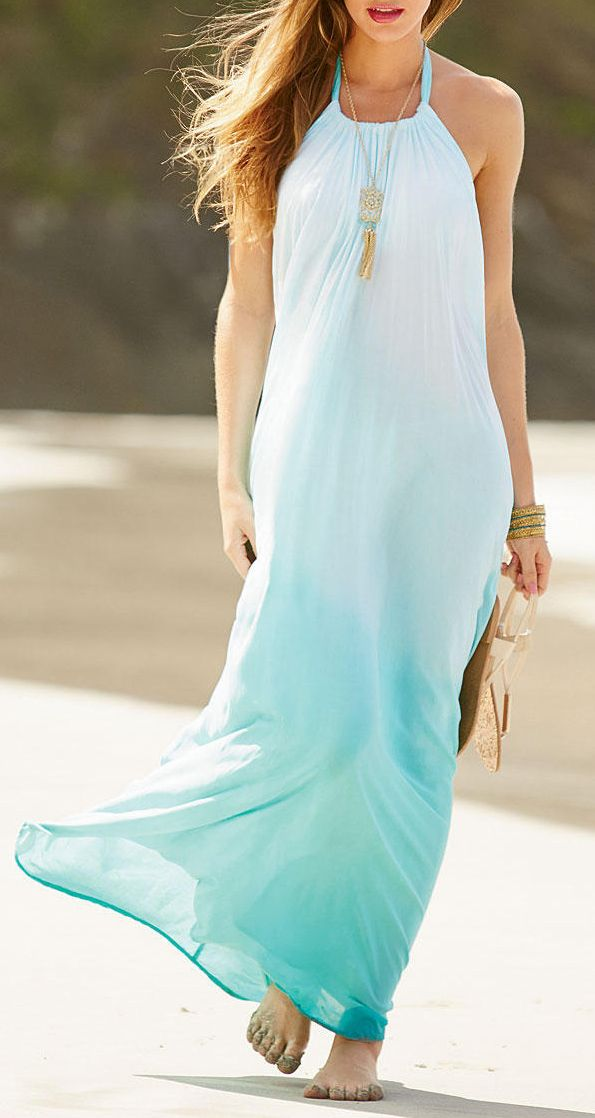 Ombre maxi. // follow my main acc. Krystin Cole @pinkfrog113