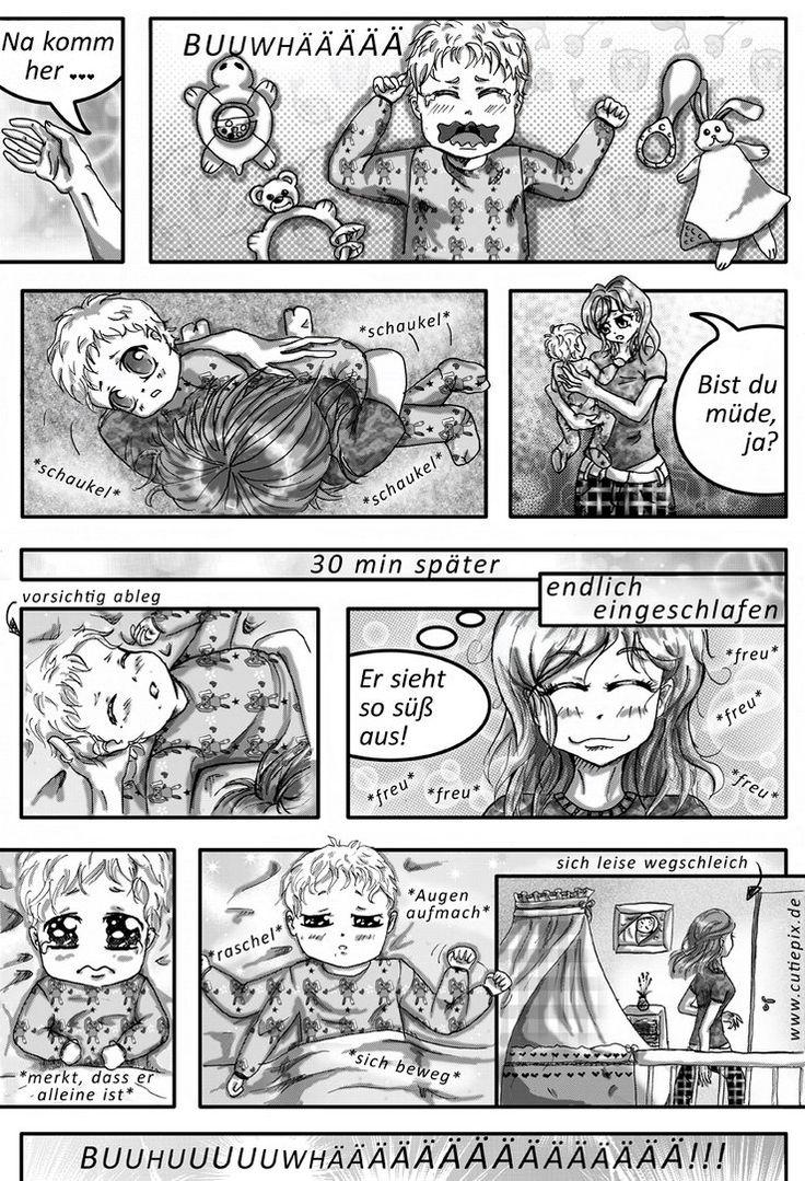 Rasterfolie Story Manga Baby schlafen gehehen by Cutiepix