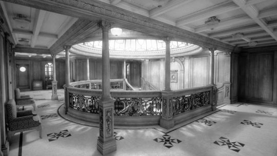 RMS Titanic's Aft Grand Staircase in Titanic: Honor and Glory.