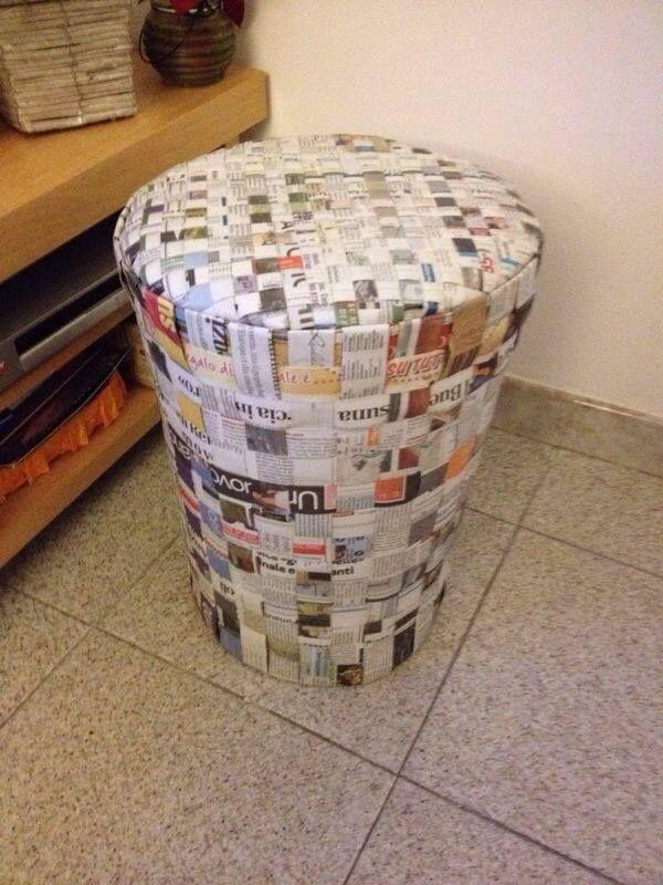 Paper Pouff + foam rubber :)