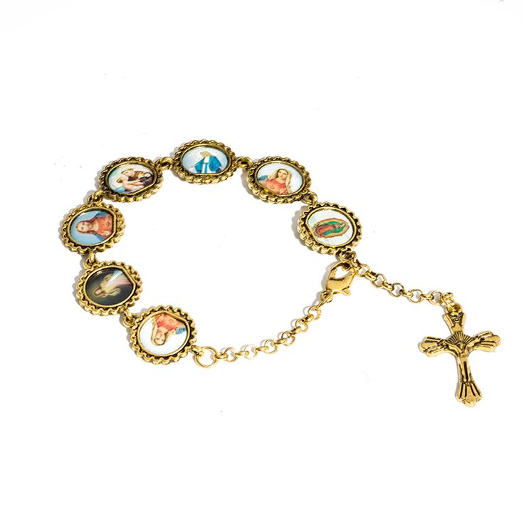 Cheap bracelet jewelry, Buy Quality charm bracelet directly from China bracelet wholesale Suppliers: Jesus Christ Cross Pendant Suspension Charm Bracelet All Saint Maria Vintage Priest Religion Costume Bracelet Jewelry Wholesale