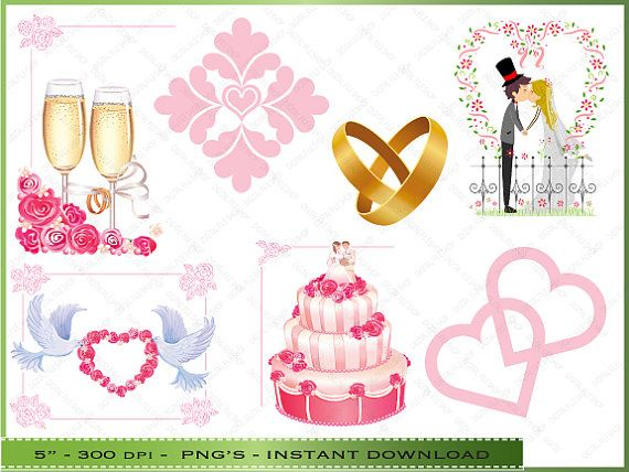 free wedding scrapbook clipart - photo #23