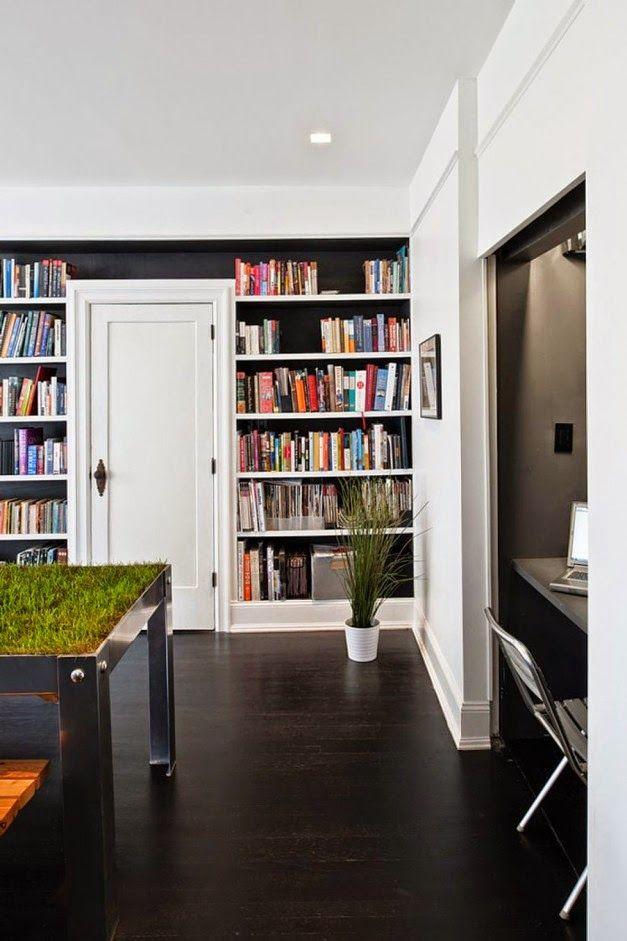 Desain Furnitur Rak Buku Fungsional