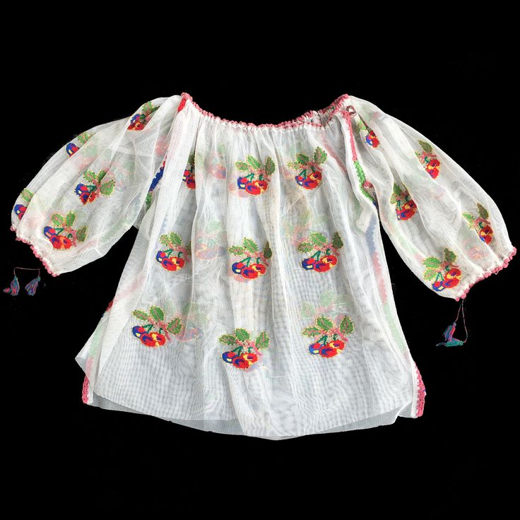 Vintage Hand embroidered Romanian blouse