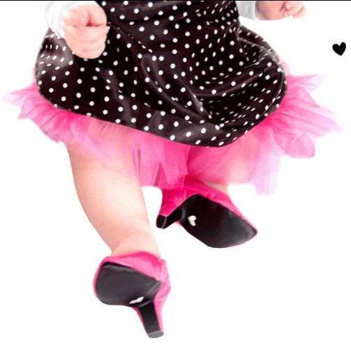 'Heelarious' Petite Pumps #topbabytrends #trendykids trendhunter.com
