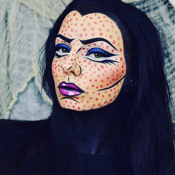 Halloween Pop Art Makeup