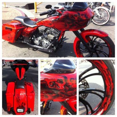 Photo: Baggers LVBFFB Bike show:  Blood glide. EE