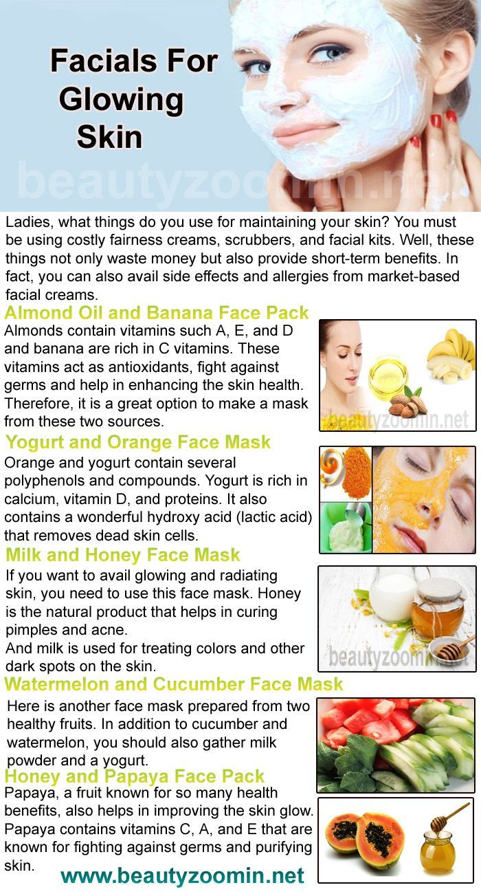 Amazing Home-Made Facials For Glowing Skin Ladies, what things do