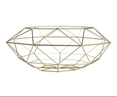"""Kôš na ovocie """"Vertex Gold"""", ø 38,5, výš. 14,5 cm"""