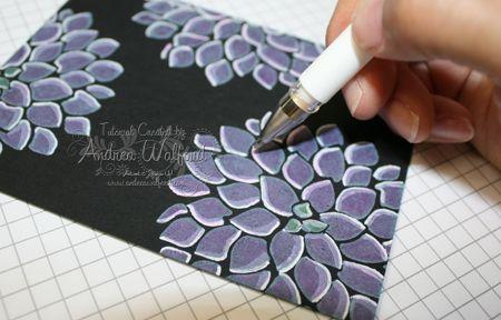 Stampin' Up! Black Magic metallic pencils, white re-inker, gel pen