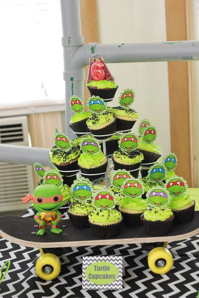 Teenage Mutant Ninja Turtles birthday party!  See more party planning ideas at CatchMyParty.com!