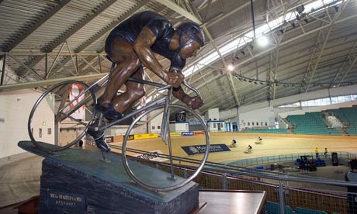 Trevor Ward scales the heights of Manchester velodrome for a first taste of track cycling