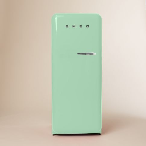 smeg refrigerator pastel green left hinge for the home pinterest mint and smeg fridge. Black Bedroom Furniture Sets. Home Design Ideas