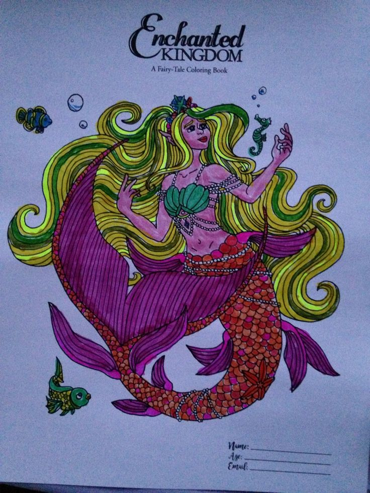 Mermaid From Enchanted Kingdom A Fairytale Coloring Book By Kimberly Kay And N Gephart