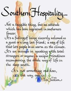 "Great interpretation of being ... ""A Southerner."" ❤️ #southern #quote"