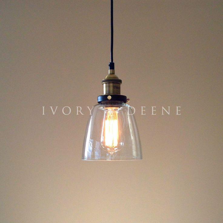 Glass Pendant Lighting | LUCY Glass Pendant Industrial Filament Light Brass Fittings Hanging ...