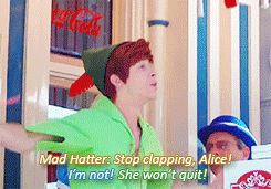 mine disneyland peter pan alice peter spieling peter Face Character Mad Hatter Peter Pan disney disney ...