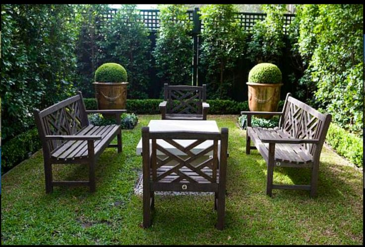 Small seating area  by Paul Bangay
