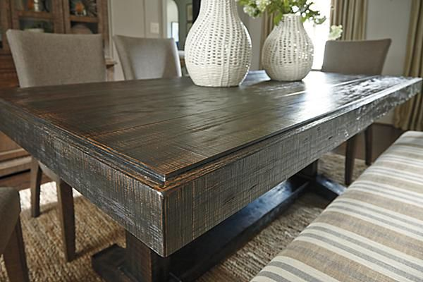 The Strumfeld Dining Room Table from Ashley Furniture HomeStore (AFHS.com).