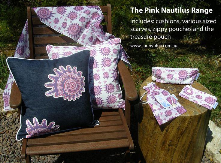 Pink nautilus shell range