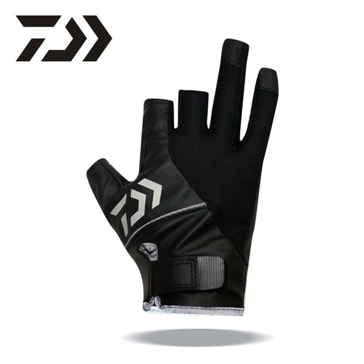 New Top Quality Anti Slip Daiwa Fishing Cut Three fingers Gloves/Outdoor Sports Slip-resistant gloves for fishing