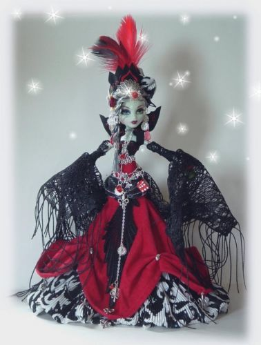 SALE!Custom Monster high** QUEEN Of SPADES** By cindy