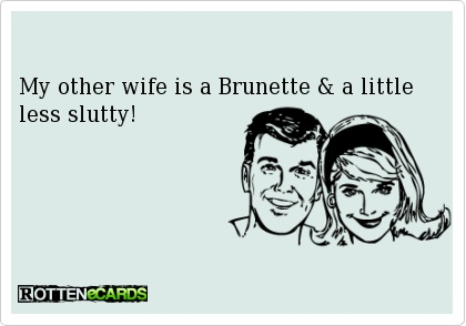 My other wife is a Brunette & a little less slutty!