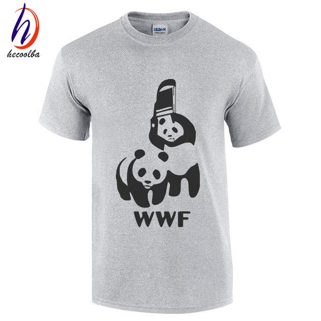 WWF Wrestling Panda Comedy Short Sleeve Cool Camiseta T Shirt Men Camisetas T Shirt Summer Fashion Funny T-shirt,GT179